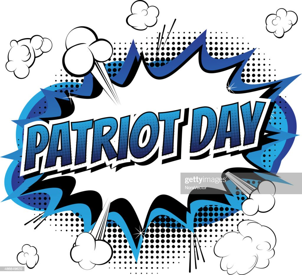 Patriot day - Comic book style greeting card.