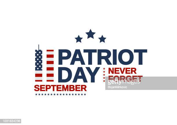 patriot day usa poster, september 11. never forget. vector illustration. - number 9 stock illustrations