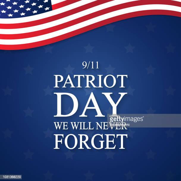 patriot day usa poster, september 11. we will never forget. vector illustration. - legal document stock illustrations, clip art, cartoons, & icons