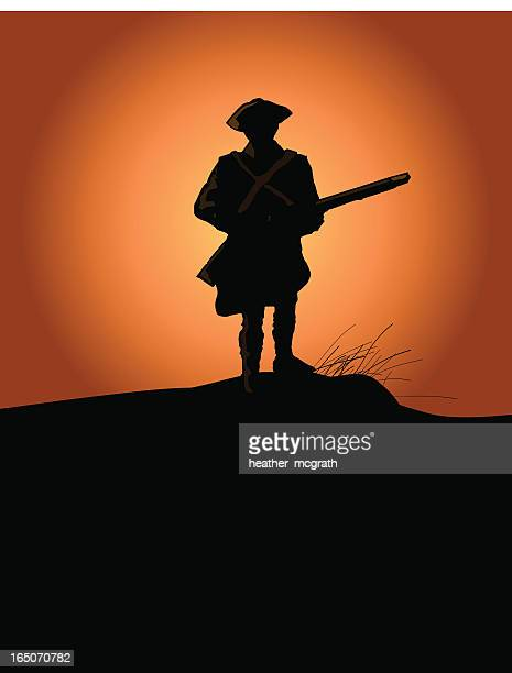 patriot - colonial style stock illustrations