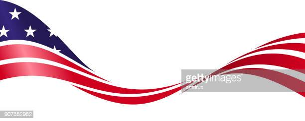 patriotic american flag - flag stock illustrations