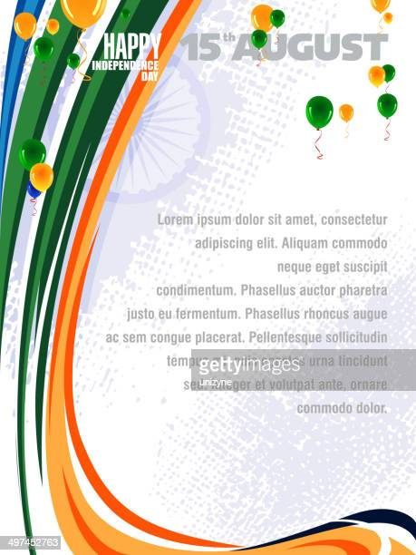 patriotic background of india - independence day stock illustrations, clip art, cartoons, & icons