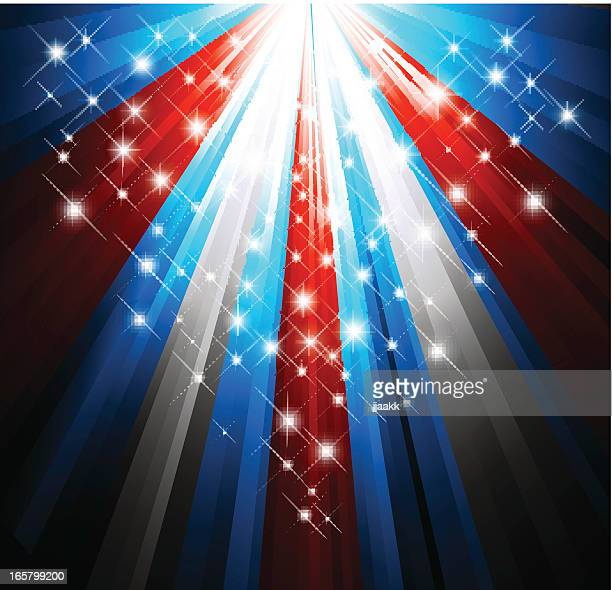 patriotic background of red, white and blue - political rally stock illustrations, clip art, cartoons, & icons