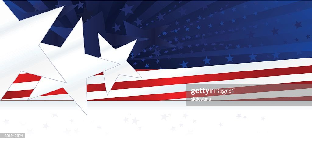 patriotic background or banner red white blue with stars