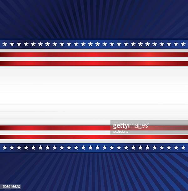 Patriotic Background: Red, White, Blue with Stars, Stripes