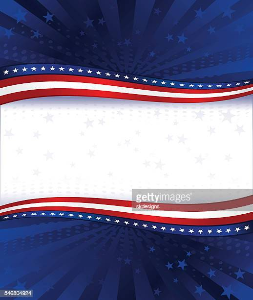 patriotic background: red, white, blue with stars, stripes - patriotism stock illustrations