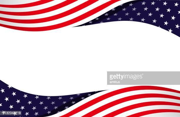 patriotic border design - patriotism stock illustrations