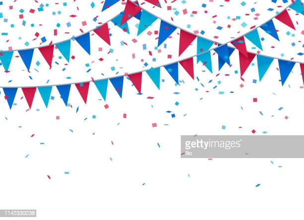 illustrazioni stock, clip art, cartoni animati e icone di tendenza di usa patriotic celebration background - festeggiamento