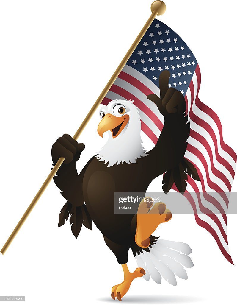 Patriotic Eagle - flag