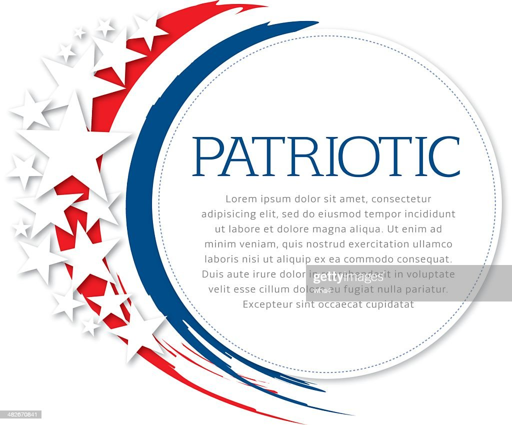 patriotic flyer vector art getty images
