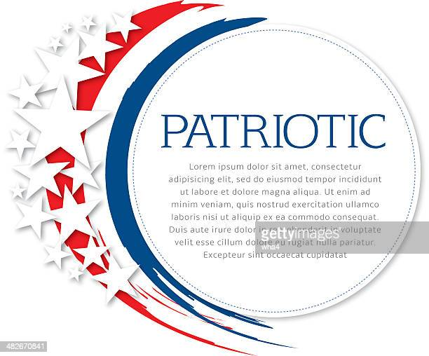 patriotic flyer - political rally stock illustrations, clip art, cartoons, & icons