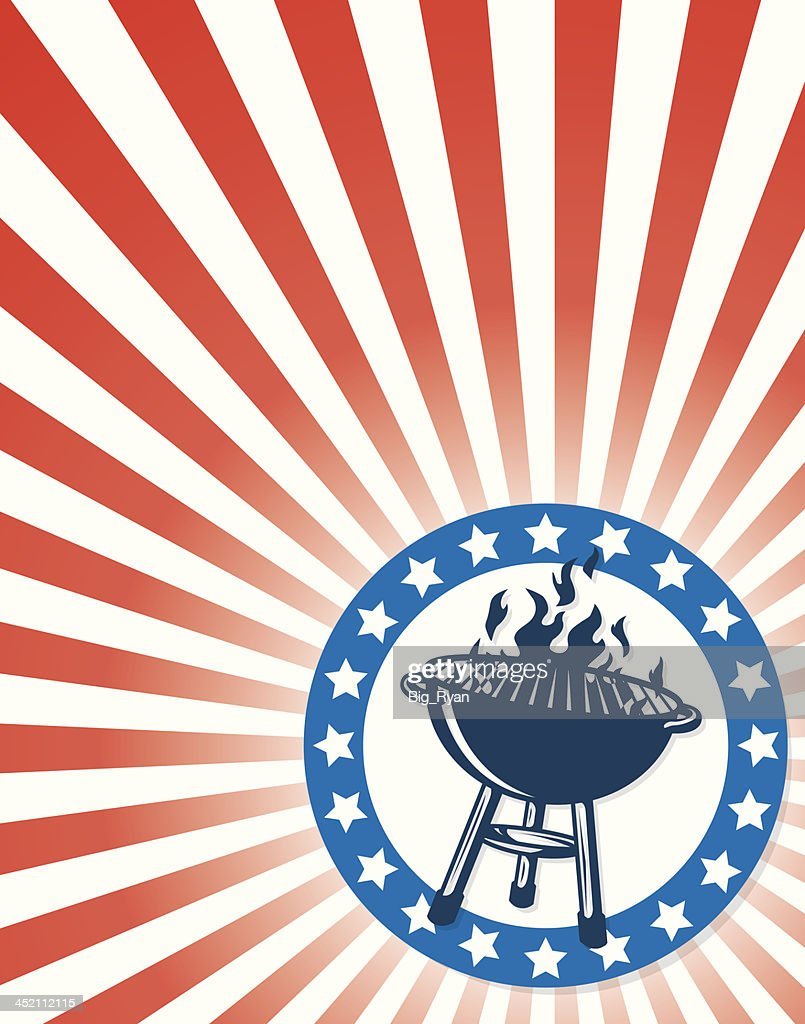 patriotic grill flyer vector art getty images