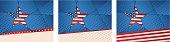 Patriotic Illustrations with USA Stars