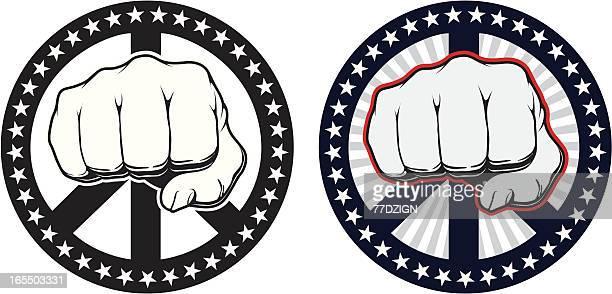 illustrations, cliparts, dessins animés et icônes de puissance patriotique - doigt dhonneur