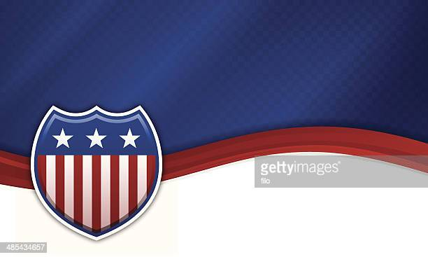 usa patriotic shield background - red and blue background stock illustrations