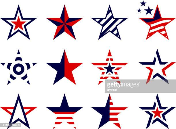 patriotism concept stars set - india politics stock illustrations