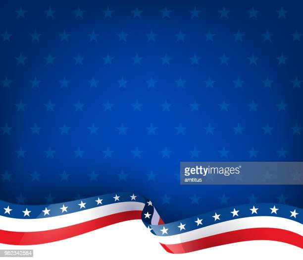patriotism ribbon background