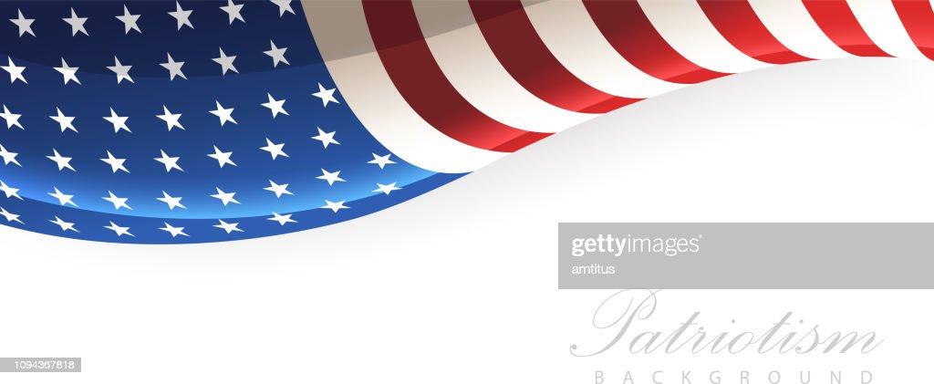 patriotism stars stripes : stock illustration