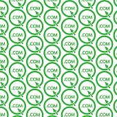 Pattern background Domain dot sign icon