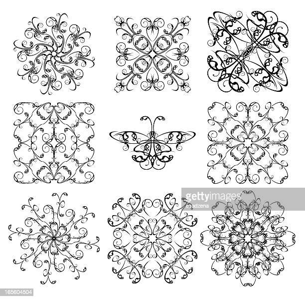 pattern collection for iron barred - sheet metal stock illustrations, clip art, cartoons, & icons