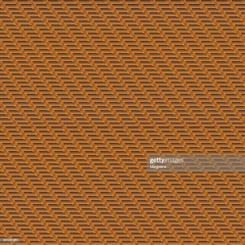 Pattern Decorative wooden textured, wicker basket weaving background.