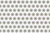 Pattern from abstract black-white flower, vector flowers background