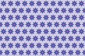 Pattern from abstract blue flower, vector flowers background