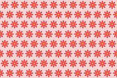 Pattern from abstract red flower, vector flowers background