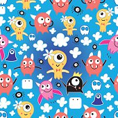pattern funny monsters