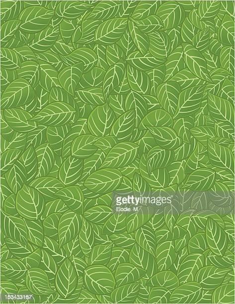 リーフ/feuilles パターン - リーフ柄点のイラスト素材/クリップアート素材/マンガ素材/アイコン素材