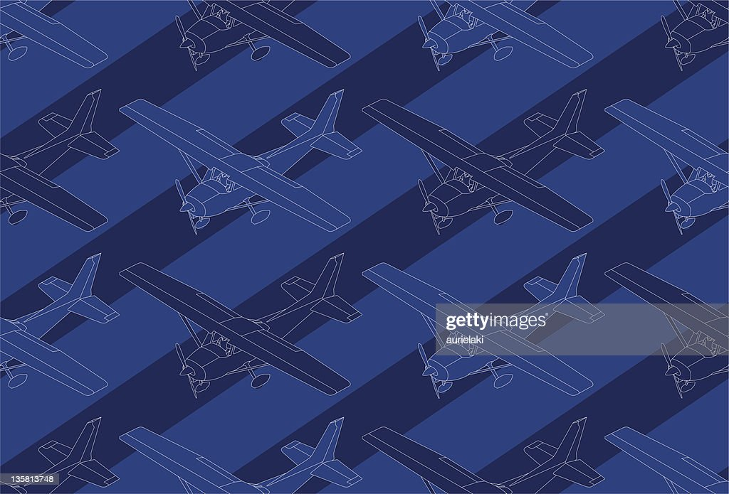 Pattern of a isometric ultralight plane
