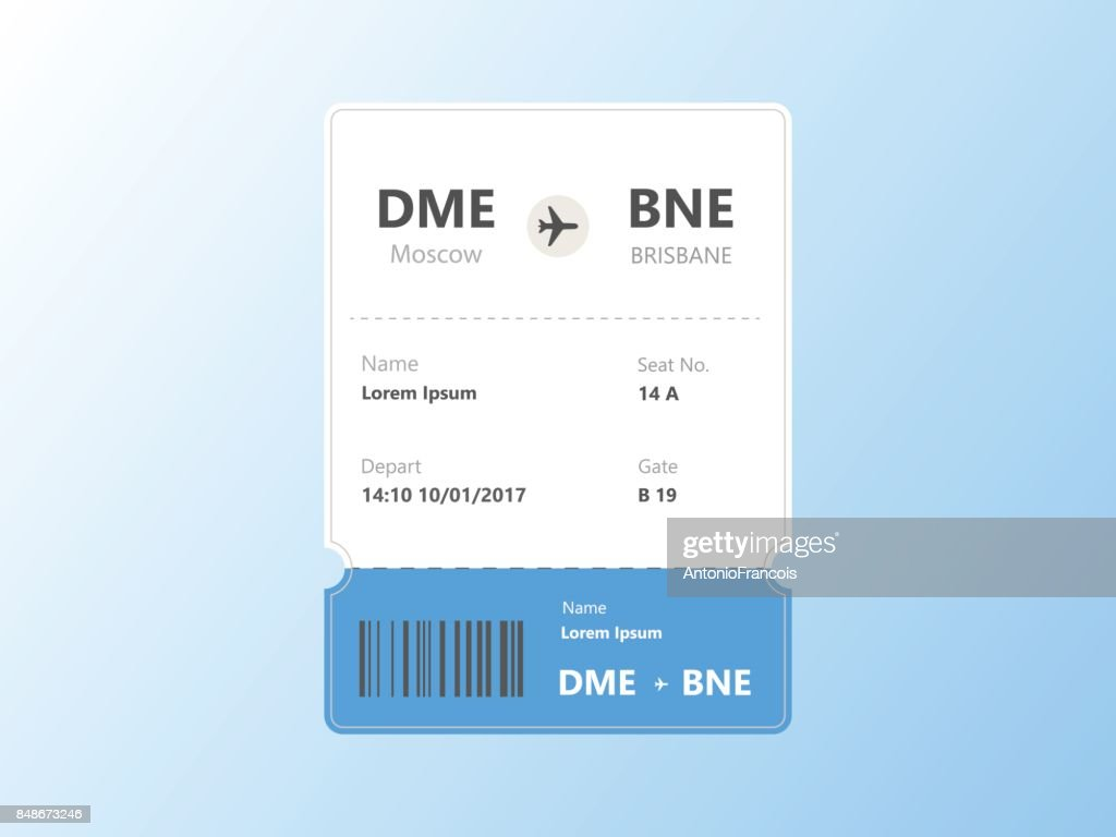Pattern of airline boarding pass ticket Vector Illustration