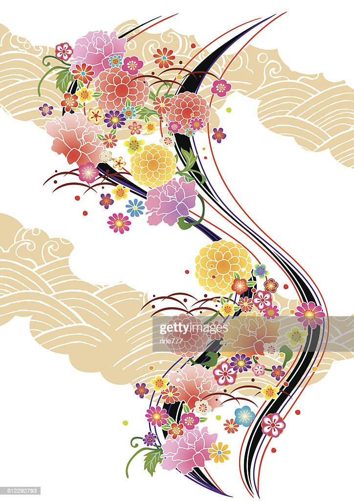 Pattern of beautiful Japanese kimono