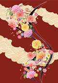 Pattern of beautiful Japanese kimono