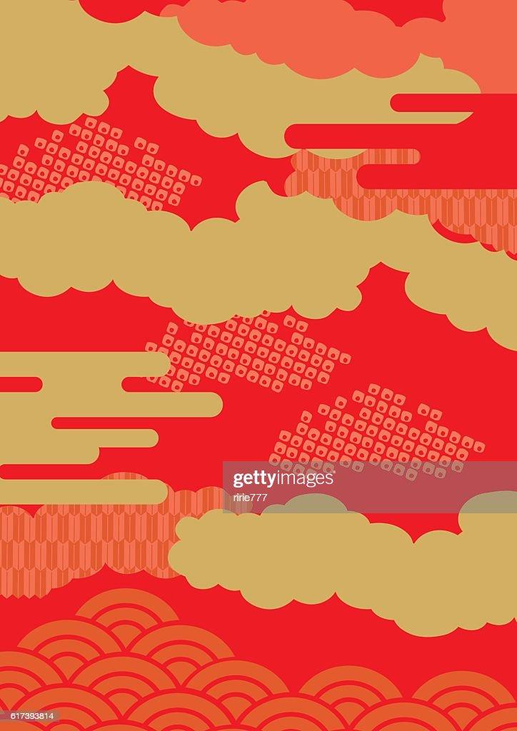 Pattern of beautiful Japanese