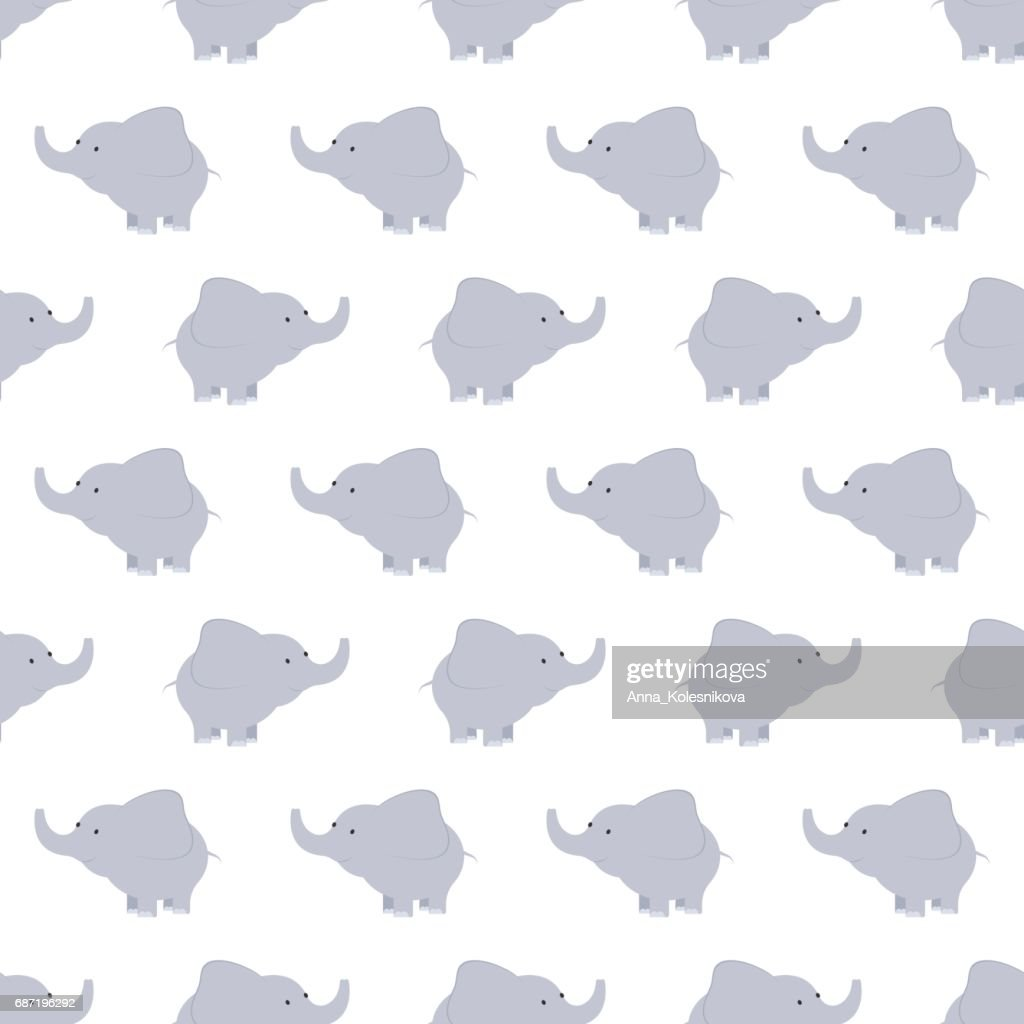 Pattern of blue and grey elephants