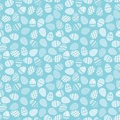 Pattern of blue Easter eggs