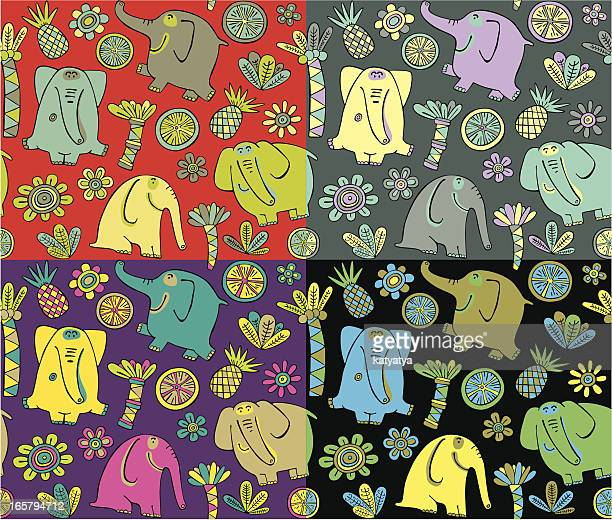 pattern of elephants