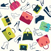 pattern of  fashion Women bags shoes