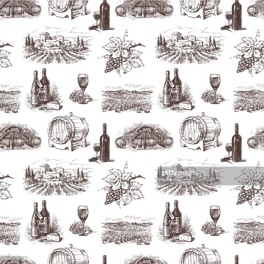Pattern of grape wine