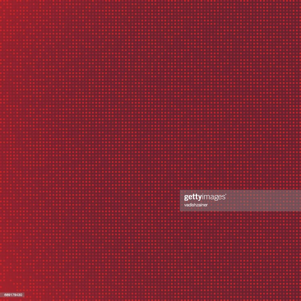 Pattern of red pixels. Flat vector background EPS 10