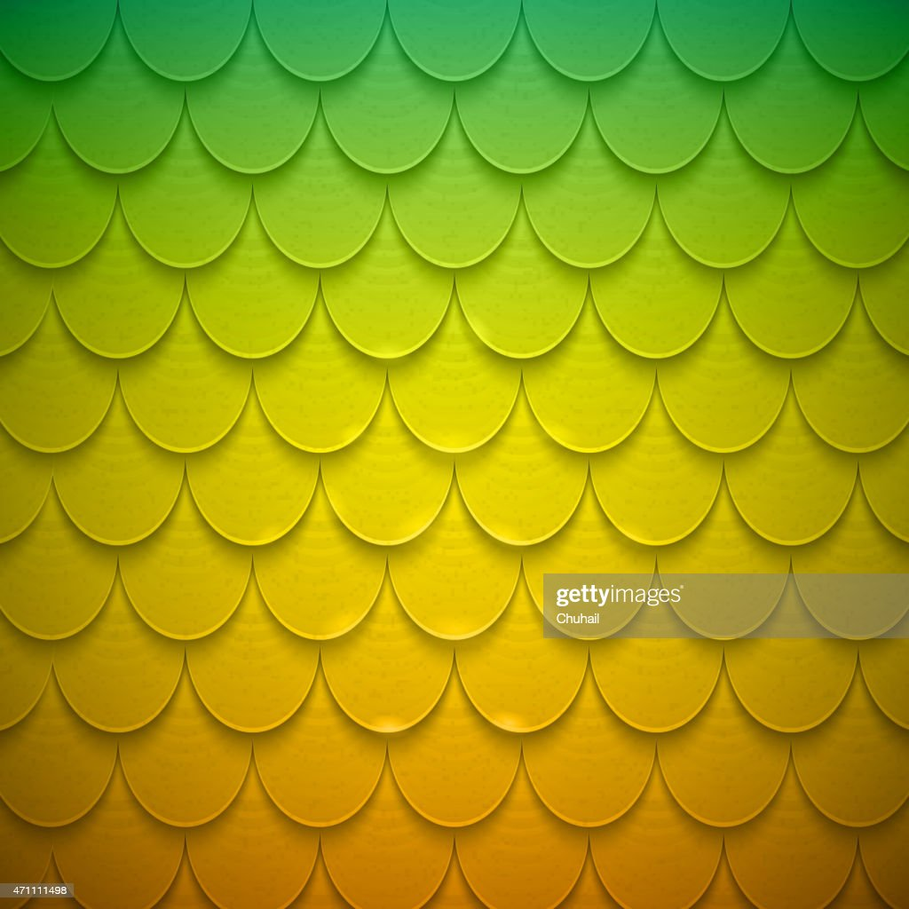 Pattern of semicircles in squama style.