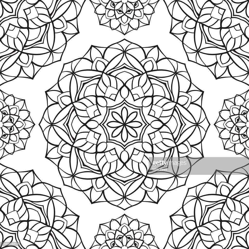 Pattern of simple mandalas.
