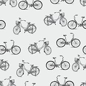 pattern of the bicycles