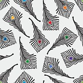 pattern of the decorative feathers