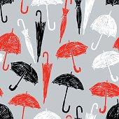 pattern of the sketches umbrellas
