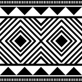Pattern or background tribal graphic, rustic strip. Ideal for institutional and educational material