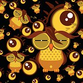 pattern owl graphic cartoon character