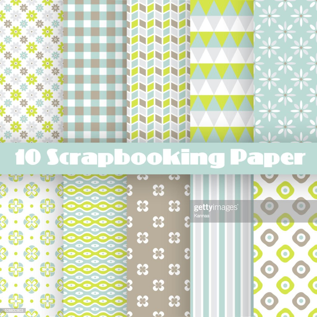 Pattern papers for scrapbook