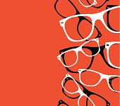 pattern retro hipster sunglasses vector abstract background